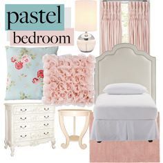 """A Sweet Pastel Bedroom"" by awkwardturtle31415 on Polyvore"