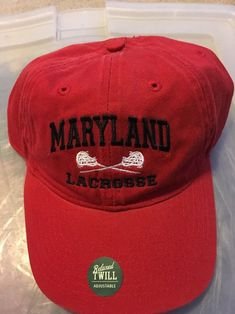 NWT Maryland Lacrosse Hat Red Lax Legacy  fashion  clothing  shoes   accessories   7b2450d605c2
