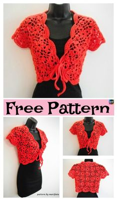 Crochet Flower Jacket with Motifs – Free Pattern & Video #freecreochetpattern #crochetjacket #crochetsweater