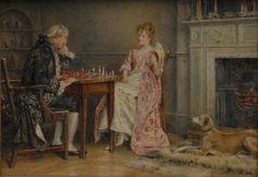 KILBURNE George Goodwin (1839 – 1924) A Game of Chess.