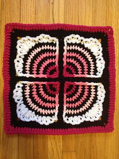 Welcome to the fan club! This afghan block's stripes build to four ruffly fans. You'll create the effect of the separated fans by working in front and behind stitches. No working over yarn or changing colors mid row.