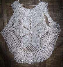 Resultado de imagen para chaleco redondo a crochet patrones