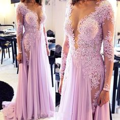 long sleeve prom dress,A-line lace long prom dresses,2016 evening dress