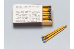 Total Art Match Box from Fluxus Movement Year Box c. Box of matches and offset. The Gilbert and Lila Silverman Fluxus Collection Gift. Fluxus Movement, Fluxus Art, Nam June Paik, Poesia Visual, New Lyrics, Claes Oldenburg, Kurt Schwitters, Conceptual Art, Various Artists