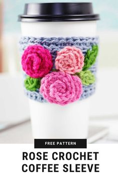 Crochet Coffee Sleeve 2019 A crochet coffee sleeve makes a beautiful and useful gift for a friend teacher or mom. Anyone that is a coffee or tea lover will love this crochet cozy! The post Crochet Coffee Sleeve 2019 appeared first on Knit Diy. Crochet Coffee Cozy, Crochet Cozy, Crochet Gifts, Cute Crochet, Knitted Coffee Sleeve, Coffee Cup Cozy, Coffee Girl, Coffee Cafe, Starbucks Coffee