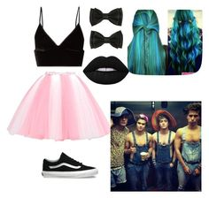 """""""doing stupid things and having fun with The guys"""" by naigarci on Polyvore featuring T By Alexander Wang, Vans and Lime Crime"""