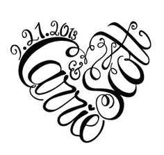 Super cute #wedding #monogram for a super cute couple! How to create a great wedding theme #26press