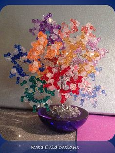 The Promise Rainbow Tree 049 by RosaEnidArtandMusic on Etsy