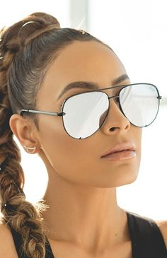 *100% UV protection *Polycarbonate lens *Nickel free metal frame *Stainless steel hinges *QUAY clear case and cleaning cloth included *Please note sunglasses are final sale