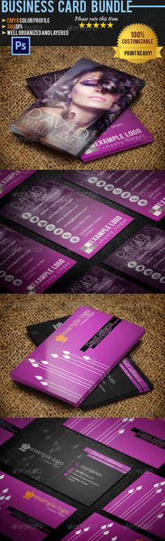 """Fashion Business Card Bundle #GraphicRiver 2x Fashion Business card templates with clean and professional design. Easy customizable and Editable PSD Template Smart Objects ( Help! ) Well Organized and Layered CMYK Color Profile 300 DPI 3.5"""" x 2"""" Print Ready! Fonts used: Free fonts used. Links included in read_me.txt Included Items: graphicriver /item/fashion-business-card-02/3900519 graphicriver /item/fashion-business-card-03/4140351 Created: 23May13 GraphicsFilesIncluded: PhotoshopPSD…"""