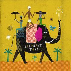 #MartinHaake #elephant #travel #holiday #AfricanSafari #Africa #illustration #lindgrensmith