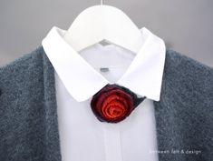 Felt Flower Brooch Rose Cufflinks Wool Red Rose Christmas Gifts Under 20 Sale Beast rose gift Stylish bouquet Bridal Party Ready to ship Best Gifts For Mom, Diy Mothers Day Gifts, Presents For Mom, Gifts For Women, Present For Girlfriend, Red Rose Wedding, Red Rose Bouquet, Rose Gift, Felt Brooch