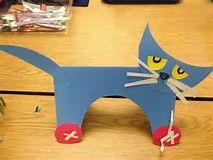 Pete the Cat craft activity. … Pete the Cat craft activity. Preschool Books, Preschool Lessons, Preschool Classroom, In Kindergarten, Preschool Crafts, Crafts For Kids, Cat Crafts, Book Crafts, Pete The Cat Art