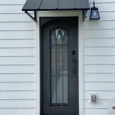 Front Door Overhang, Awning Over Door, Front Doors, Outdoor Rooms, Outdoor Ideas, Backyard Ideas, Home Exterior Makeover, Exterior Remodel, Outdoor Window Awnings