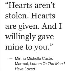 letters to the men i have loved