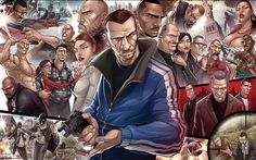 Depicting characters new and old, Patrick Brown is a forerunner in the fan art world Art And Illustration, Comic Illustrations, Patrick Brown, Game Art, Pc Game, Grand Theft Auto Series, Gta 4, Fanart, Gaming Wallpapers