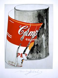 "Andy Warhol, ""Campbell's Soup Can"" hand signed Print, 1986 Andy Warhol Soup Cans, Campbell's Soup Cans, Abstract Words, Sign Printing, American Artists, Food Art, Canning, Wall Art, Bedroom Wall"