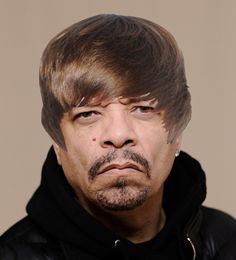 As the singer turns 18 March see what other celebs would look like with his famous coif Laughter The Best Medicine, Ice T, Celebrity Beauty, Celebs, Celebrities, Love People, Audrey Hepburn, Justin Bieber, I Laughed