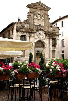 Spoleto, Piazza del Mercato - Umbria, Italy