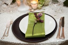 Place an individual bloom at each place setting for a special touch