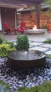 Backyard Idea fountain doubles as tanks watering hole ;)