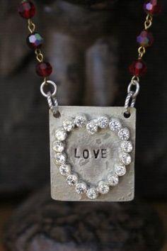 LOVE Vintage Heart Necklace