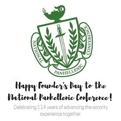 Happy Founder's Day to the National Panhellenic Conference! In first meeting was held in Chicago. Advancing sorority experiences together for 114 years! Npc News, Panhellenic Council, Happy Founders Day, Sorority, Conference, Hold On, Chicago, Instagram, Naruto Sad