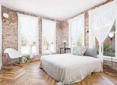 bedroom-exposed-brick-walls-cococozy tijolo aparente inspire lifestyle