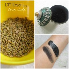 How to Make Kajal at Home Using Carom Seeds? : Step by Step Tutorial, Photos & Usage Instructions