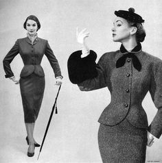 Sherry Nelms & Alice Bruno - Moordale Junior Suits 1956