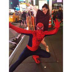 Olha quem encontrei em NY!  Spider Man, seu lindo! #tbt #throwbackthursday #missingNY