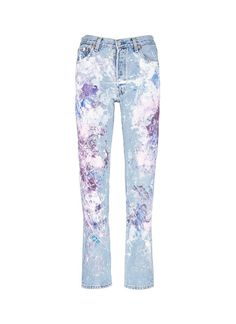 Love this: One Of A Kind Hand-painted Splatter Distressed Vintage Boyfriend Jeans @Lyst