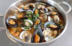 ZARZUELA MARINERA y primer aniversario del blog Paella, Sprouts, Food And Drink, Fish, Chicken, Vegetables, Ethnic Recipes, Blog, Tortilla