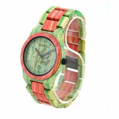 """For your girly style, this """"bamboo watch crystal case"""" designs to satisfy your wish for a stunning accessory."""