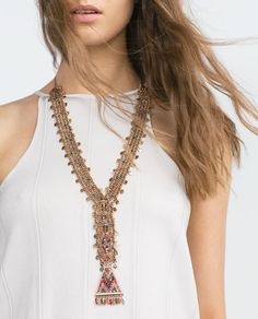 Image 1 of LONG COLORFUL STONE NECKLACE from Zara