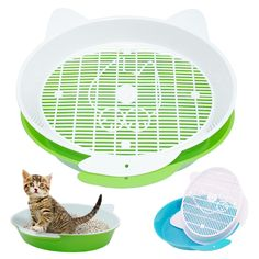 Pet Cat Rabbit Pee Toilet Round Enclosed Puppy Kitten Bedpans For Cats Small Animal Hamster Litter Training Tray Plastic Cat Litter Pan, Litter Box, Pet Trainer, Dog Toilet, Indoor Pets, Buy Pets, Pet Paws, Pet Rabbit, Cleaning Tips