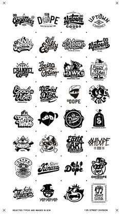 Recent selected types and images in B/W by Oleg Gontarev, via Behance Graffiti Lettering, Typography Letters, Logo Typo, Typographie Logo, Schrift Tattoos, Badge Logo, Lettering Styles, Design Reference, Graphic Design Inspiration