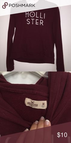Hollister Maroon Hoodie Good condition. Will accept any offer. Hollister Jackets & Coats