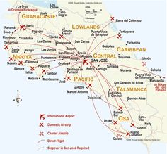 map of costa rica maps site w great activities to do while in