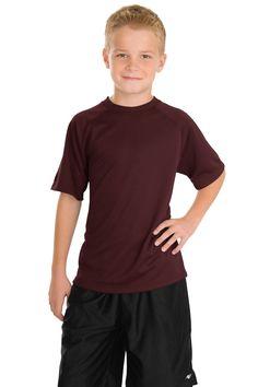 Sport-Tek Youth Dry Zone Raglan T-Shirt Y473 Maroon