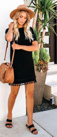 bf9300cf10f 10+ Magical Summer Outfits To Copy ASAP · Black Summer DressesBeach Outfits  Women ...