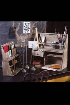 Folding Desk Organizers: maybe make out of cardboard