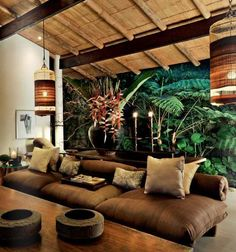 Wonderful Rustic Living Room Decor Ideas And Remodel - Page 19 of 144 - Afs. - Wonderful Rustic Living Room Decor Ideas And Remodel – Page 19 of 144 – Afshin Decor - Interior Tropical, Tropical Wall Decor, Tropical Colors, Tropical Furniture, Decoration Chic, Decoration Design, Family Room Design, Family Rooms, Deco Design