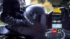 Augmented Reality Motorcycle Helmet. This baby has 180 degree rear view camera, GPS navigation, and smartphone integration!