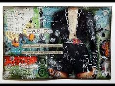 Love, love, love this video! by betty franks, mystic tulip art. mixed media collage using magazine images, words from a novel and other ephemera. Mixed Media Journal, Mixed Media Collage, Mixed Media Canvas, Collage Art, Canvas Collage, Art Journal Pages, Art Pages, Art Journals, Mixed Media Tutorials