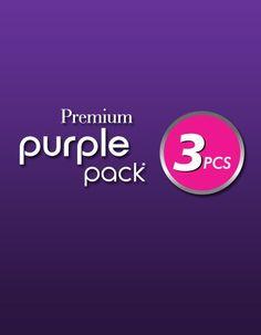 Premium Purple Pack 3PCS