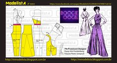 Portuguese site with illustration showing how to alter a standard pant and bodice pattern to create this jumpsuit. Easy Sewing Patterns, Clothing Patterns, Sewing Tutorials, Jumpsuit Pattern, Pants Pattern, Fashion Sewing, Diy Fashion, Sewing Clothes, Diy Clothes
