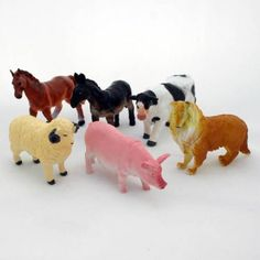 Toy Farm Animals Pack of 6