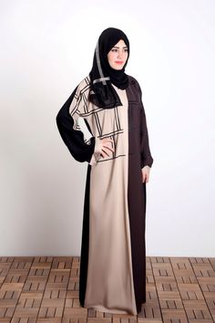 Get this gorgeous abaya from Al-Karam Qadri's shops, or our online shopping website and shine with it. It's perfect design is made to keep you, modest, elegant, and stylish. It can be your next favorite piece to wear! #stylish #hijab #modestfashion #abaya
