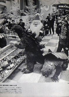Godzilla Christmas Shopping